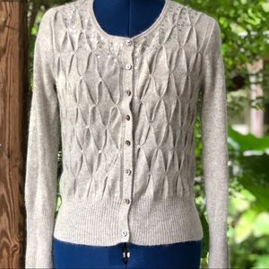 Cynthia Rowley | Angora & Wool Blend Grey Cardigan
